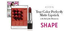According to Shape Magazine's beauty playbook, Avon True Color Perfectly Matte in Superb Wine is a trending rich red that is equal parts gorgeous and glam. #lipstick #matte #magazine #news #avonrep