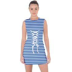 Classic marine stripes pattern, retro stylised striped theme Lace Up Front Bodycon Dress Up Front, Creative Design, Style Fashion, Bodycon Dress, Dresses For Work, Lace Up, Stripes, Retro, Classic