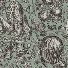Buy Cole & Son Cowcumber Wallpaper in Australia. Cole & Son Wallpaper from their Frontier Collection. This design is a magnificent wallpaper botanical motif. Printed on non-woven wallpaper. Roll - 53 cm x Repeat - Mint Wallpaper, Kitchen Wallpaper, Pattern Wallpaper, Luxury Wallpaper, Custom Wallpaper, Cole Son, Cole And Son Wallpaper, Fabric Houses, Designer Wallpaper