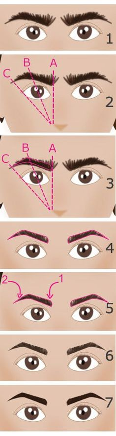 """Operation """"perfect eyebrows"""": succeed every time his hair removal and the makeup of his eyebrows (in drawings Epiler ses sourcils et avoir des sourcils parfaits - Nail Designs Natural Nail Designs, White Nail Designs, Diy Nail Designs, Nail Designs Spring, Beauty Make Up, My Beauty, Beauty Hacks, Hair Beauty, Beauty Stuff"""