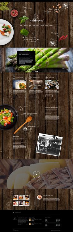 California - Restaurant Hotel Coffee Bar Site Template by AVAThemes , via Behance