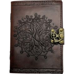 Brown Tree of Life Embossed Leather Journal - 060-2640 by Medieval Collectibles