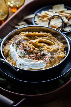 Acorn Squash and Caramelized Onion Dip - Vegetarian Healthy Recipe | OhMyVeggies.com