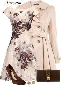 """Ivory&Touch of brown!!"" by maryam098 on Polyvore"