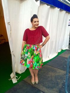 Proms in the Park, London, September 12, 2015 Top: ASOS Skirt: custom made with fabric by Knipidee Shoes: Jimmy Choo Cuff: Primark Earrings: Zara