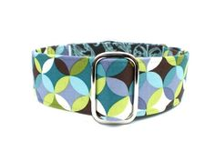 Kaleidoscope Martingale Dog Collar by TheEclecticHound on Etsy. $23+