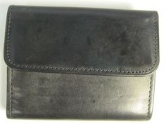 Coach Genuine Leather Trifold Wallet Two Flaps With Metal Snaps. #Coach #Trifold