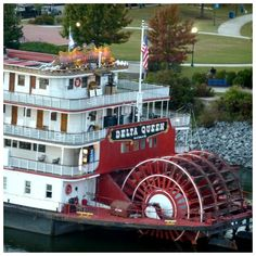 THE DELTA QUEEN ON THE TENNESSEE RIVER IN CHATTANOOGA.  Such a cozy place to spend the night plus a spectacular view of the evening skyline from the upper deck.