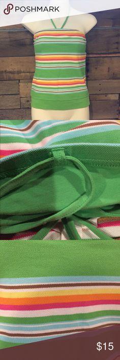 "Aeropostale stripe halter/strapless top. medium Excellent condition Aeropostale stripe halter/strapless top. medium.  15"" long. (Without the halter strap). Shelf bra included. Cotton with 5% spandex Aeropostale Tops"