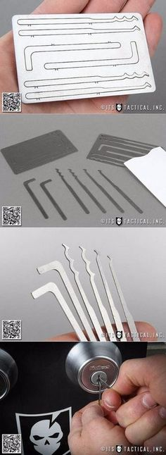 ITS EDC Everyday Carry Gear Stainless Steel Lock Pick Entry Card
