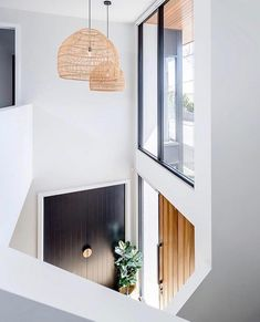 Major entrance envy in the spectacular new build by and featuring the wicker… Modern Interior, Interior Styling, Interior Architecture, Interior And Exterior, Interior Design, Scandinavian Interior, Interior Lighting, Modern Entrance, House Entrance