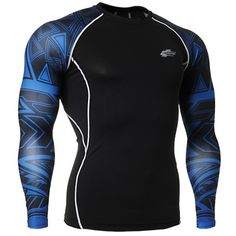 Free Shipping Men's Long Sleeve Compression Design Gym Workout Undershirt Outdoor Running sport clothing Sportswear