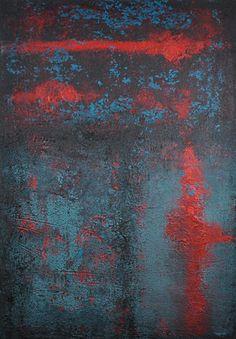 abstrakte Acrylmalerei, Unikat, Original,100x70cm von Kunst & Design Werkstatt auf DaWanda.com