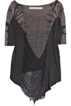 Raquel Allegra distressed cotton-jersey T-shirt $240