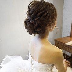 hair/yuudai◆make/rie ________________________________ 今日は埼玉へ 楽. - Elizabeth B. Short Hairstyles Over 50, High Bun Hairstyles, Bride Hairstyles, Trendy Hairstyles, Bridal Hairdo, Hairdo Wedding, Wedding Hair And Makeup, Hair Makeup, Korean Wedding Hair