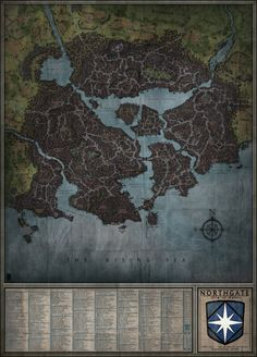 Northgate - City Map by Levodoom.deviantart.com on @DeviantArt