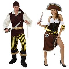 Costumes pour couples Pirates Marron #déguisementscouples