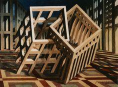 F. Martinuzzi, Démarche en escalier, aquarelle15x20. 1987