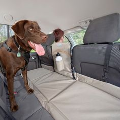 Backseat Bridge – Backseat Extender Kurgo Backseat Bridge extends width of backseat for dogs. Keeps your pup out of the front seat ensuring dog safety. Makes comfortable dog bed of back seat. Puppy Care, Dog Care, Dog Safety, Dog Travel, Training Your Dog, Safety Training, Dog Accessories, Large Dogs, Dog Grooming