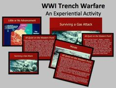 $3.20 Powerpoint with images of trench warfare during World War I and quotes from All Quiet on the Western Front allows students to see and hear the war....