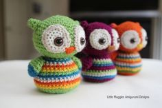 Free Pattern owl- great way to use up leftover yarn!