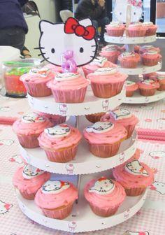 Hello Kitty Cupcake display