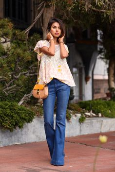 Life is more fun with a little flare! @Vivaluxury in #Hudsonjeans Taylor Flares