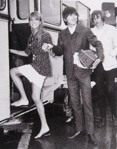pinterest jane asher and pattie boyd harrison | 1966, Barbados honeymoon. My scan.