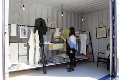 "Lapuan Kankurit at the Abattoir in Helsinki, at the ""Lähimuoto"" exhibition. Weaving Techniques, Sustainable Design, Helsinki, Wardrobe Rack, Pop, Furniture, Home Decor, Popular, Pop Music"