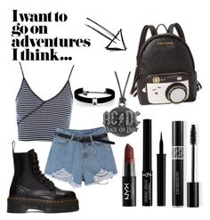 """""""🖤"""" by luisaisluv on Polyvore featuring Topshop, Dr. Martens, Kenneth Jay Lane, NYX, Christian Dior, Giorgio Armani, Betsey Johnson and AC/DC"""