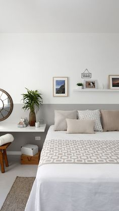 25 Interesting Ideas for Adding Calming Accents to Your Room Decoration Bedroom Inspirations, Home Bedroom, Bedroom Design, Home N Decor, Simple Bedroom, Bedroom Decor, Home Decor, Room, Bedroom Colors