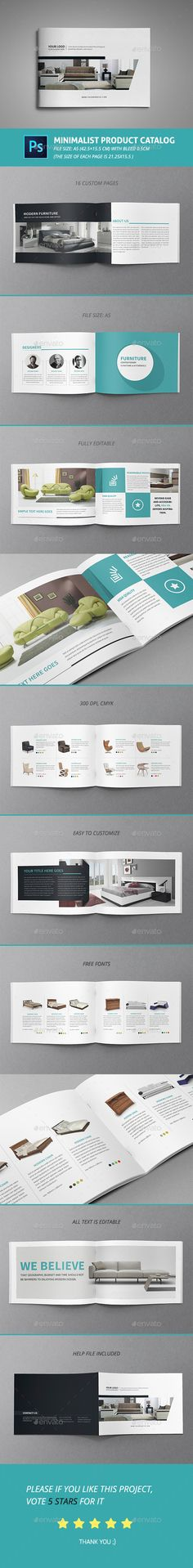 Minimalist Product Catalog Template #printdesign #design Download: http://graphicriver.net/item/minimalist-product-catalog/12077413?ref=ksioks