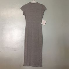 New fitted midi bodycon strip mock dress Size small dress size 2 or 4. **not nasty gal brand Nasty Gal Dresses Midi