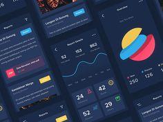 Dark Reports App by Riko Sapto Dimo - Dribbble