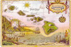 Résultats Google Recherche d'images correspondant à http://franenpeinture.files.wordpress.com/2009/01/map-of-old-hawaii.jpg