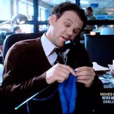 Tom Hanks Is A Knitter? - Stitching in books and movies - Tom Hanks Is A Knitter? John C Reilly knitting in 'Never Been Kissed'. Knitting Quotes, Knitting Humor, Knitting Club, Never Been Kissed, Boring People, Knit Art, Tom Hanks, Cinema, Knit Or Crochet