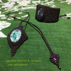 macramé bracelet & necklace