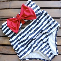 paper hearts high waisted sailor bikini – shop hearts