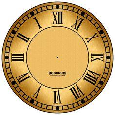 Fancy Watches, Vintage Watches, Clock Face Printable, Roman Clock, Unusual Clocks, Decoupage Printables, Blue Nose Friends, Retro Clock, Wooden Clock