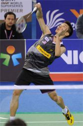 Lee Chong Wei wins the Malaysia Open. World Leaders, Badminton, Tennis, Basketball Court, Baseball Cards, Sports, Trainers, Hs Sports, Real Tennis