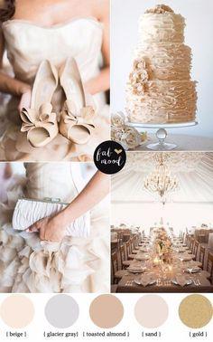 Ideias para o seu casamento na cor Hazelnut - Pantone 2017