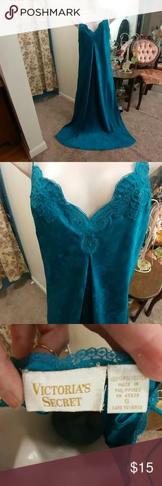 Victoria's Secret vintage green negligee nightgown Victoria's Secret vintage green negligee nightgown, sexy and sophisticated, size small but roomy, great condition!    Price firm unless bundled.  Please see my closet for lots of other fun and vintage lingerie! Victoria's Secret Intimates & Sleepwear