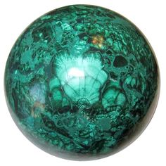 "Malachite Ball 56 Genuine African Crystal Healing Sphere Gazing Meditation Congo Stone 3.4"""