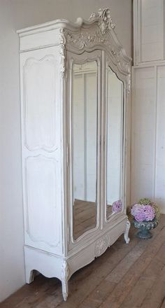 Antique french armoire rose swags by FullBloomCottage on Etsy