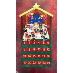DicksonsInc Nativity Scene Felt Christmas Advent Calendar