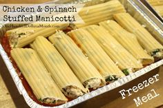 manicotti freezer meal, Ground beef recipes, Freezer Meals, beef freezer meals, easy freezer meals, once a month cooking, meal prep