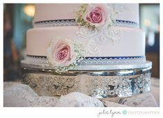 Pink and Lace Wedding Cake - Stonewater Country Club, Kentwood, Mi