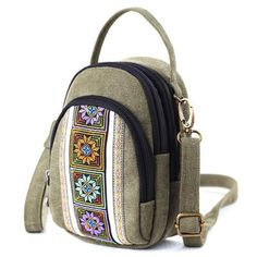 Brenice Vintage Canvas Casual Shoulder Bag Crossbody Bag Pho