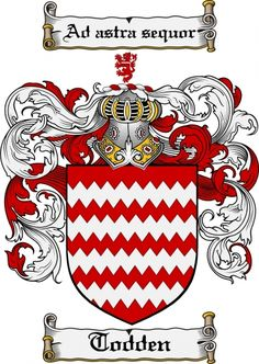 Todden Coat of Arms Todden Family Crest Instant Download - for sale, $7.99 at Scubbly