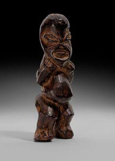 Mupo Bamileke figure | Virtual Tribal and Textile Art Shows Eagle Feathers, Ram Horns, Feather Headdress, Ivory Coast, Textile Art, Art Museum, Belgium, Lion Sculpture, Statue